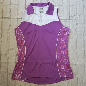 Callaway Geometric Opti Dri Golf Polo Tank Top
